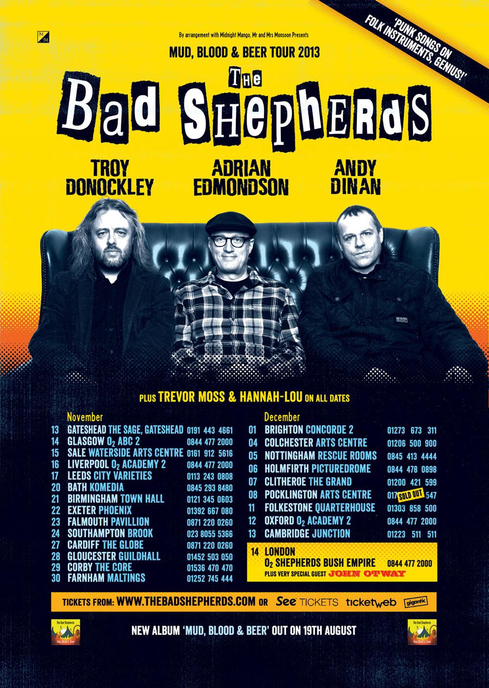The Bad Shepherds Autumn Tour 2013