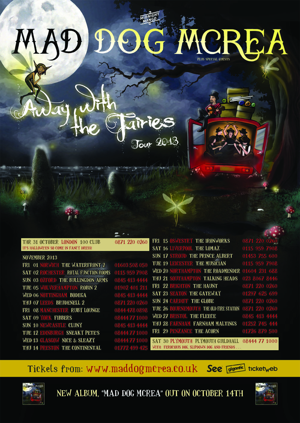 Mad Dog Mcrea Autumn Tour Poster 2013