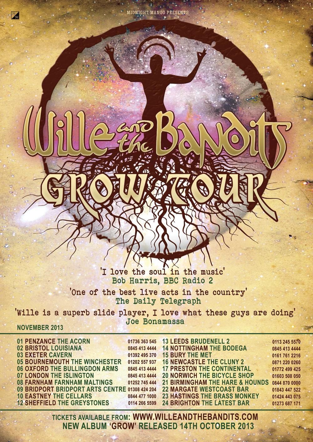 Wille & the Bandits Autumn Tour 2013