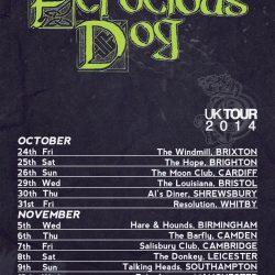 Ferocious Dog Tour Poster