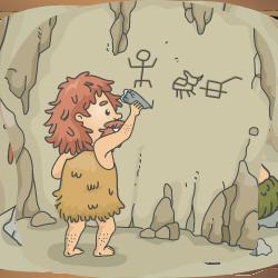 Caveman writing